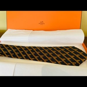 Authentic Vintage Hermes Silk Tie: Belts